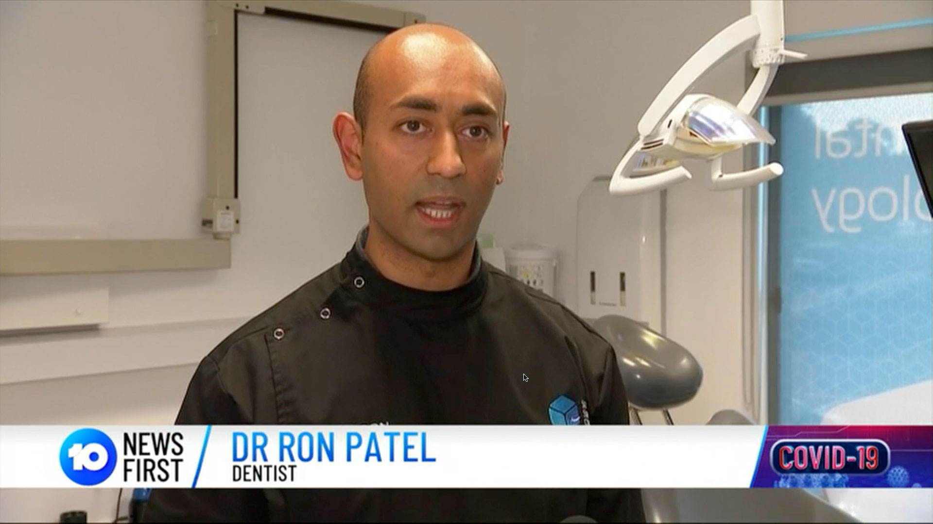 Dr Ron Patel Oakleigh Dentist 10 News First 16 September 2020